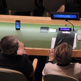 Iceland representation in the General Assembly room at the UN