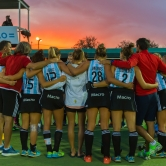 Sunset after a great match (Leonas Field Hockey National Team)