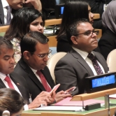 Maldives at the UN COP21 treaty singature